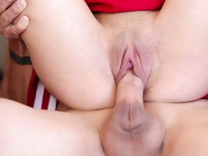 Tiny Tits Cheerleader Fucks A Big Cock Outdoors