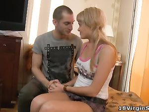 Fooling Around With A Cute Blonde Teen Is Arousing