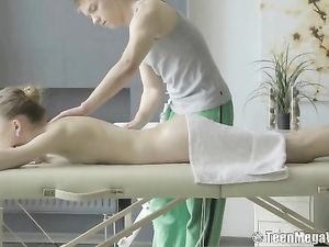 Tight Skinny Chick Enjoys Her Erotic Massage