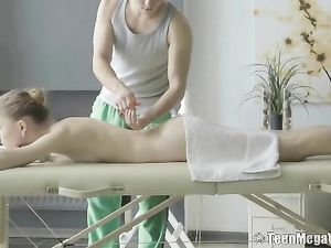 Tight Skinny Chick Enjoys Her Erotic Massage