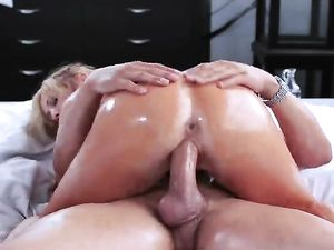 Tasha Reign Oils Up Her Body And Gets Fucked