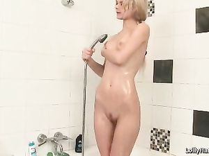 Skinny Girl With A Banana In Her Shaved Pussy