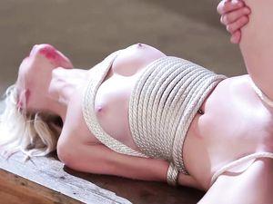 Master Fucks A Tied Up Petite Blonde Teen Sub Slut