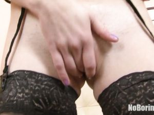 Teenagers In Black Stockings Have Big Toy Sex