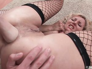 Lesbian Anal Slut In Fishnets Fisted By Her GF