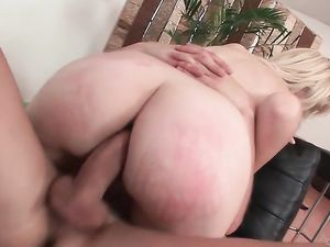 Anally Pounded Blonde Has A Gaping Asshole