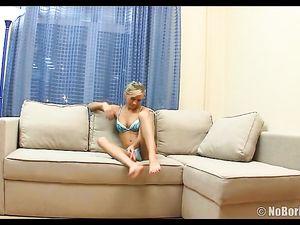 Blue Panties On The Cocksucking Teenage Blonde