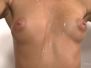 Tight Teen Ass And Perky Tits Covered In Slippery Oil