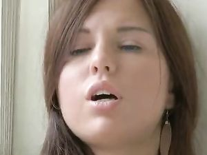 Toy Sucking Teen Beauty Fucks Her Slippery Vagina
