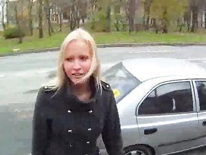 Blonde Cutie Brings Him Home To Enjoy His Big Dick