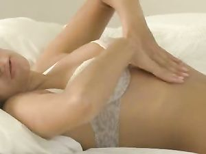 Cunt Rubbing Teen Is All Wet For A Big Dildo