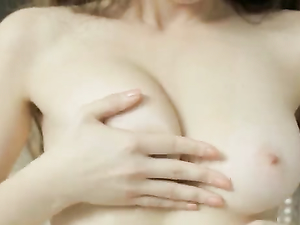Perky Russian Tits Fondled As The Girl Masturbates
