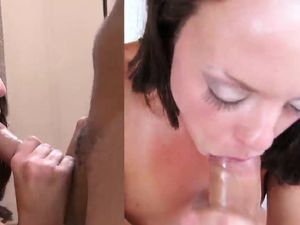 Hot Cum Swallowing From The Well Fucked Young Lady