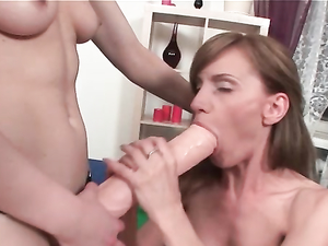 Daring Lesbian Wants The Huge Black Toy In Her Asshole