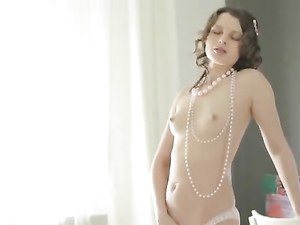 Young Pussy Is Wet For A Big Dildo Fucking