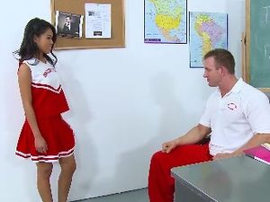 Extra Slutty Cheerleader Outfit On The Fuckable Asian