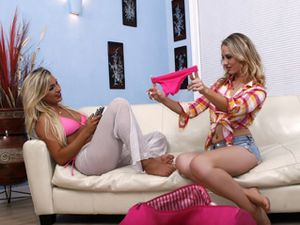 Curvy Cameron Dee Fucks A Blonde Lesbian Babe