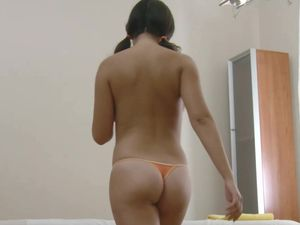 Asian Tits Bounce During Hot Massage Table Sex