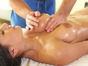 Massaging Amia Miley And Making Her Horny For Dick