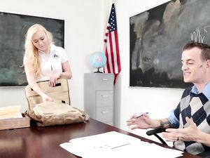 Seductive Schoolgirl And Her Teacher Fucking