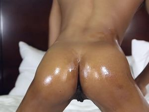 Bouncing Her Tight Black Booty And Sucking White Dick
