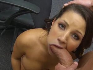 Curvy Belle Sucks A Big Dick At Her Office In POV Video