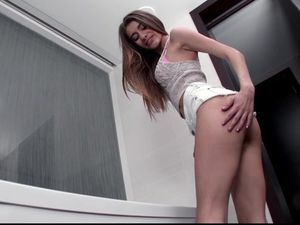 Beauty Teases His Big Cock And Takes It Inside Her