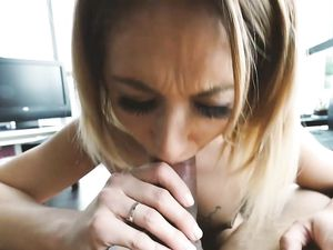 POV Sex With Curvy Blonde Girl In Doggy Style Pose In The Bed
